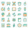 outline icon collection school education vector image vector image