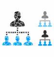 people hierarchy composition icon humpy pieces vector image vector image