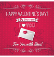 red background with valentine ornaments vector image vector image