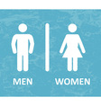 Restroom male and female sign vector image vector image