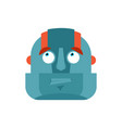 robot confused emoji oops face avatar cyborg vector image