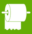 roll of toilet paper on holder icon green vector image vector image