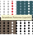 seamless turtle patterns set vector image vector image