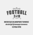 set football soccer - badge logo and font vector image