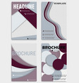 set of abstract flyers design background vector image vector image