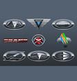 set of car logo vector image vector image