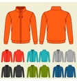 Set of colored sports jackets templates for men vector image
