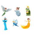 set of fairies vector image vector image