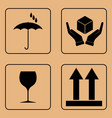 set of fragile symbols vector image vector image