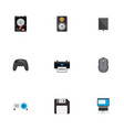set of pc icons flat style symbols with control vector image vector image