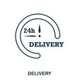 simple outline delivery icon pixel perfect linear vector image vector image