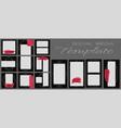 social media banner template editable mockup for vector image vector image