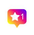 social media modern like sign gradient color vector image vector image