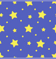 starry night in cartoon style seamless pattern vector image vector image
