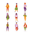stylish fashionable people set men and women vector image vector image