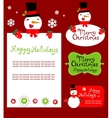 Templates for Christmas greeting card gift tag vector image vector image