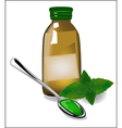 Therapy mint syrup in a bottle vector image vector image