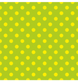 Tile pattern with yellow dots on green background vector image vector image