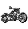 vintage monochrome motorcycle on white bakcground vector image vector image