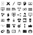 web designer icons set simple style vector image vector image