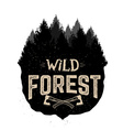 WILD FOREST vactor logo template vector image