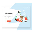 winter website landing page design template vector image vector image