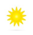 Yellow Sun Icon vector image