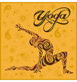 yoga yellow background vector image