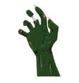Zombie hand isolated on white vector image vector image