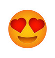 love emoji face love emotion icon vector image