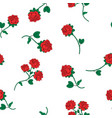 seamless wallpaper wild roses vector image