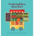 Farm vegetables market street vending vector image