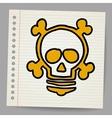 lightbulb with skull vector image