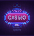abstract bright vegas casino banner with neon vector image vector image
