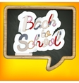 Back to school sign EPS 10 vector image