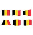 belgium flag official colors belgian vector image