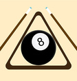billiard emblem vector image vector image