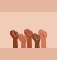black fist people brown power black history vector image vector image