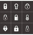 black locks icons set vector image vector image