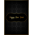 Black new year card vector image vector image
