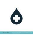 blood drop donor icon logo template design eps 10 vector image vector image