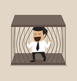 Businessman escape from jail vector image vector image