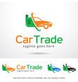 car trade logo template vector image