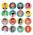Cartoon male and female faces collection vector image vector image