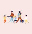 children party dancing in disco vector image vector image