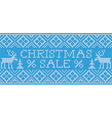 Christmas Sale Scandinavian style seamless knitted vector image vector image