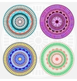 Colored mandala set vector image vector image