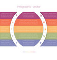 colorful strips and white semicircles for text 5 vector image vector image