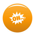 comic boom oh icon orange vector image