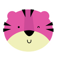 Cute cartoon beautiful Tiger isolated on white vector image